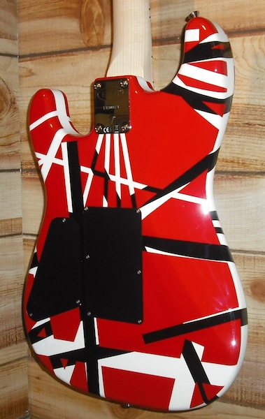 EVH® Striped Series Electric Guitar Red, Black, and White