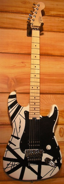 EVH® Striped Series Electric Guitar Black and White