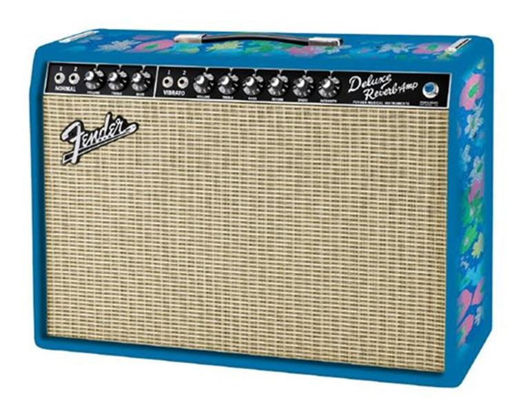 Fender® FSR '65 Deluxe Reverb Blue Flower Combo Amp