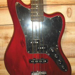 Squier® Vintage Modified Jaguar Bass Special Crimson Red Transparent
