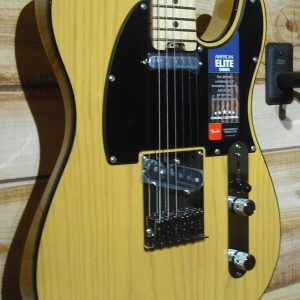 Fender® American Elite Telecaster® Maple Fingerboard Butterscotch Blonde w/Case