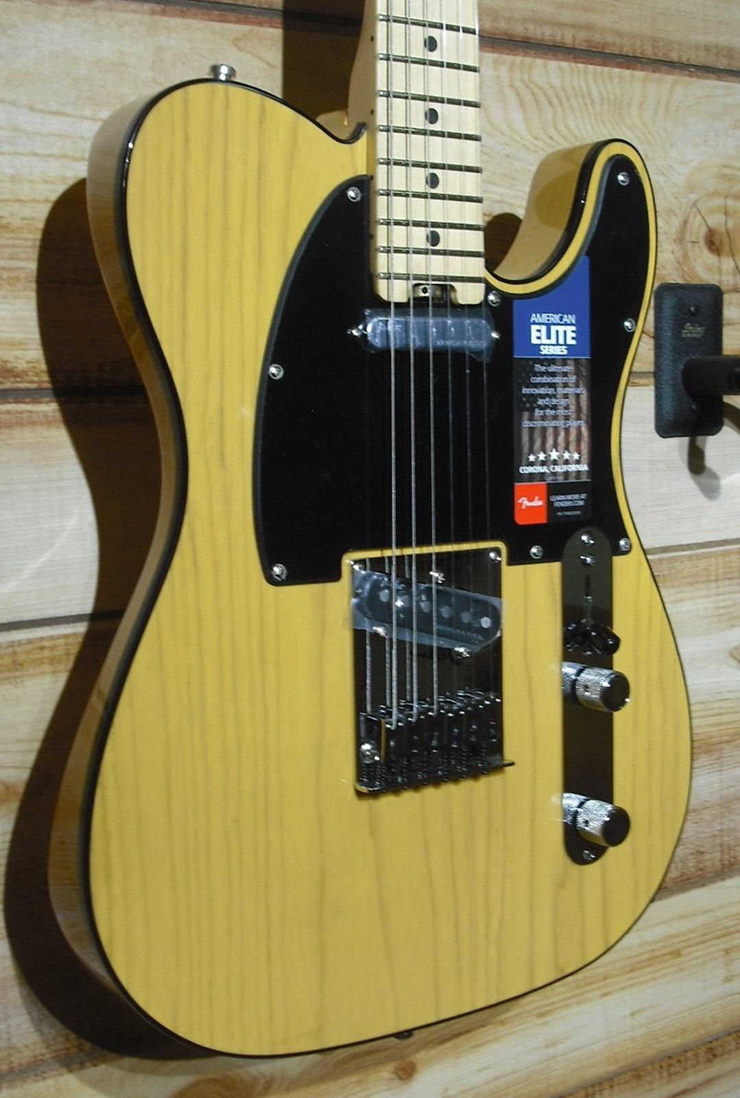 Fender® American Elite Telecaster® Maple Fingerboard Butterscotch Blonde w/Case
