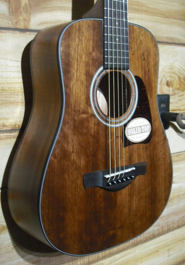 Ibanez AW54 Mini Open Pore Acoustic Guitar Natural Solid Mahogany Top