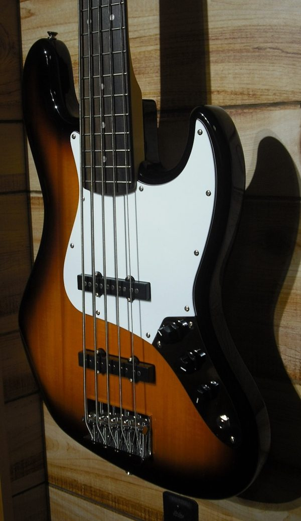 Squier® Affinity Jazz Bass® V Rosewood Fingerboard Brown Sunburst
