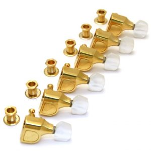 Genuine Fender Deluxe Cast/Sealed Tuning Machines with Pearl Buttons