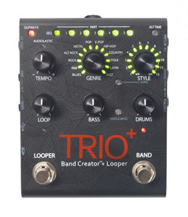 DigiTech TRIO+ Band Creator and Looper Guitar Effects Pedal