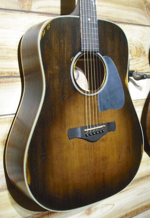 Ibanez AVD6 Dreadnought Acoustic Guitar Distressed Tobacco Sunburst