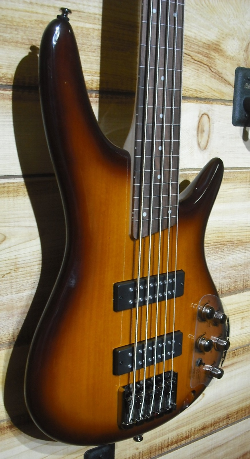 Ibanez SR375EF 5-String Fretless Electric Bass Guitar Brown Burst