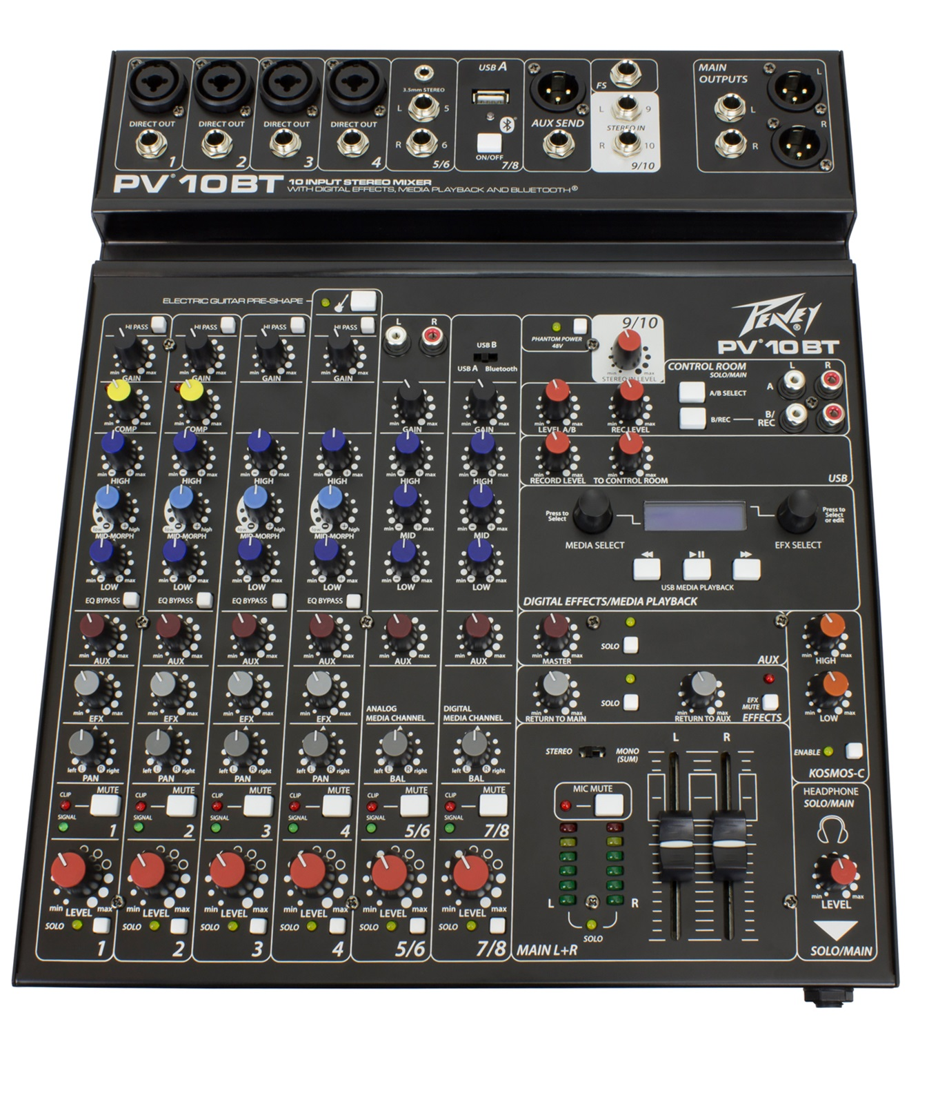 Peavey PV10 BT 10 Channel Mixer with Bluetooth