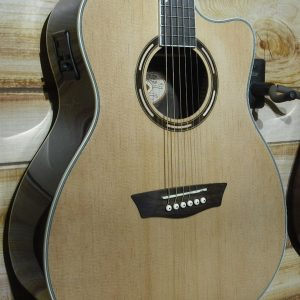 Washburn AG20CE Grand Auditorium Acoustic Electric Guitar Natural w/Case