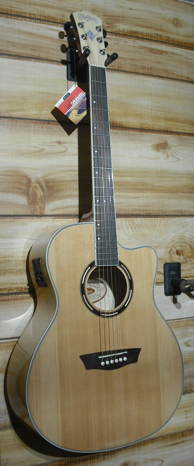 washburn ag40ce grand auditorium acoustic electric guitar natural w case. Black Bedroom Furniture Sets. Home Design Ideas