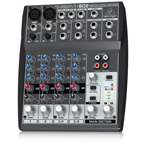 behringer xenyx 802 4 channel analog mixer. Black Bedroom Furniture Sets. Home Design Ideas