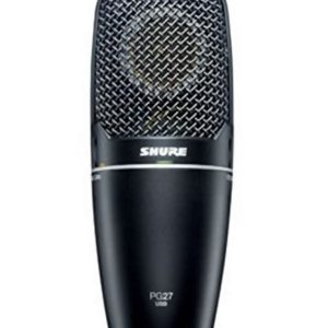 Shure PG27USB Cardioid Condenser Side Address Multi Purpose Microphone