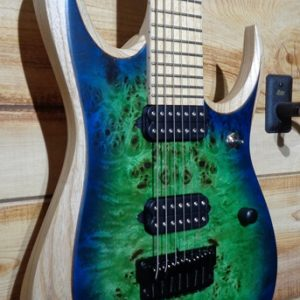 Ibanez Iron Label RGDIX7MPB 7 String Electric Guitar Surreal Blue Burst