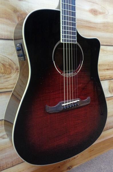 fender t bucket 300ce v3 flame maple acoustic electric guitar trans cherry burst. Black Bedroom Furniture Sets. Home Design Ideas