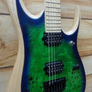 Ibanez Iron Label RGDIX6MPB 6 String Electric Guitar Surreal Blue Burst