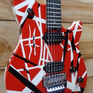 EVH Wolfgang® Special Striped Electric Guitar Red Black and White w/Gigbag