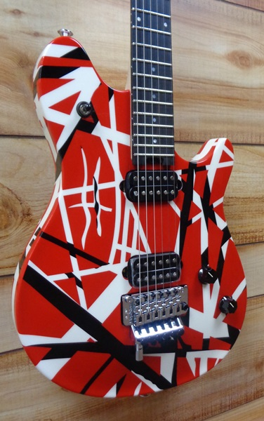 38bd5617056 EVH Wolfgang® Special Striped Electric Guitar Red Black and White w Gigbag