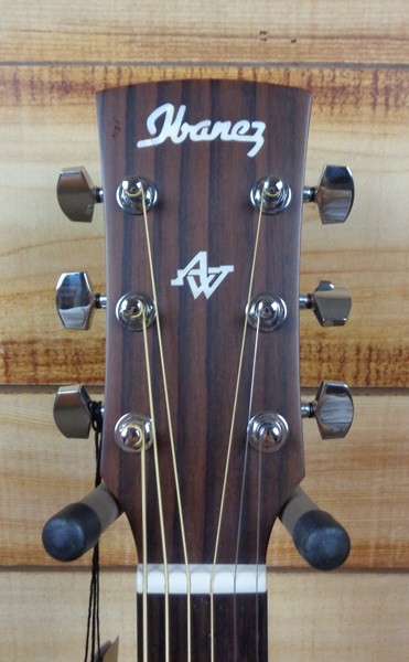 Ibanez AW54 Dreadnought Open Pore Acoustic Guitar Natural Solid Mahogany Top