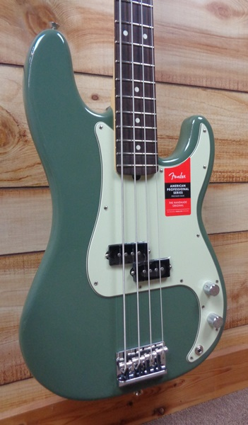 Fender® American Professional Precision Bass® Rosewood Fingerboard Antique Olive w/Case