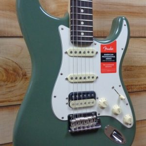Fender® American Professional Stratocaster® HSS ShawBucker Rosewood Fingerboard Antique Olive w/Case