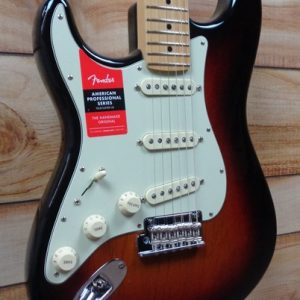 Fender® American Professional Stratocaster® Left-Handed Maple Fingerboard 3-Color Sunburst w/Case