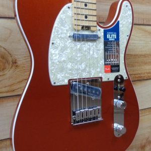 Fender® American Elite Telecaster® Maple Fingerboard Autumn Blaze Metallic w/Case