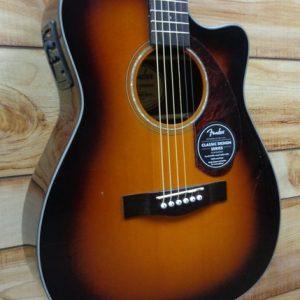 Fender® CC140SCE Concert Acoustic Electric Guitar Sunburst w/Case