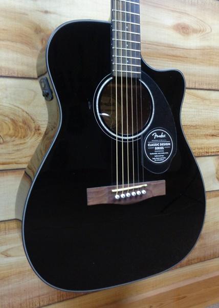 Fender 174 Cc60sce Concert Acoustic Electric Guitar Black