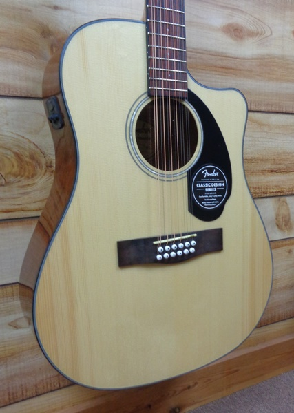 Fender® CD60SCE 12 String Dreadnought Acoustic Electric Guitar Natural
