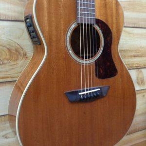 Demo Washburn HG120SWEK Grand Auditorium Acoustic Electric Guitar Natural w/Case