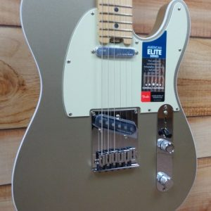 Fender® American Elite Telecaster® Maple Fingerboard Champagne w/Case