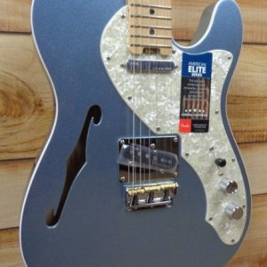 Fender® American Elite Telecaster® Thinline Maple Fingerboard Mystic Ice Blue w/Case