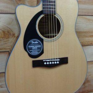 Fender® CC60SCE Left Hand Concert Acoustic Electric Guitar Natural