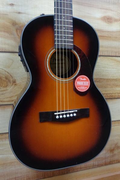 Fender® CP140SE Parlor Acoustic Electric Guitar Sunburst w/Case