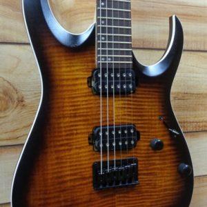 Ibanez RGA42FM Electric Guitar Jatoba Fingerboard Dragon Eye Burst Flat