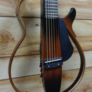 Yamaha SLG200S Steel String Silent Guitar Tobacco Brown Sunburst w/Gigbag