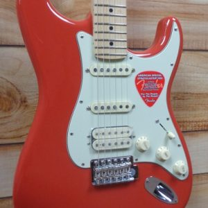 Fender® American Special Stratocaster® HSS Maple Fingerboard Fiesta Red w/Gigbag
