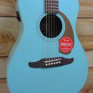 Fender Malibu Player Walnut Fingerboard Acoustic Electric Guitar Aqua Splash