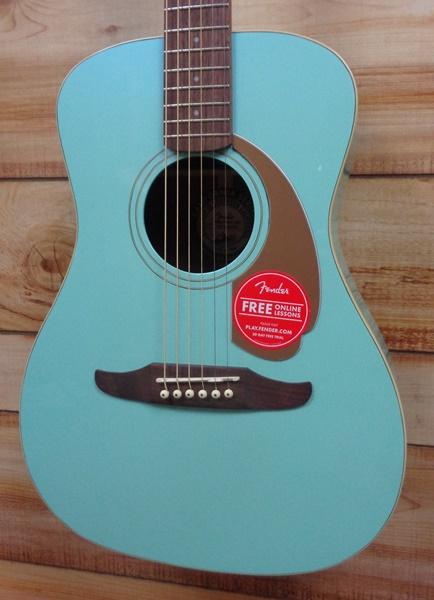 Fender Malibu Player Walnut Fingerboard Acoustic Electric Guitar ...