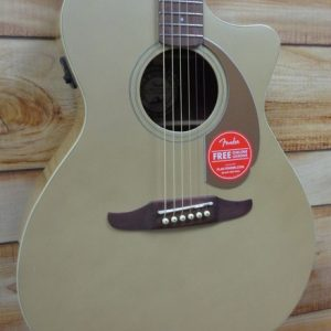 Fender Newporter Player Walnut Fingerboard Acoustic Electric Guitar Champagne