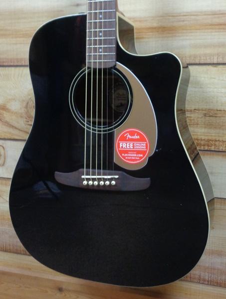 fender redondo player acoustic electric guitar jetty black. Black Bedroom Furniture Sets. Home Design Ideas