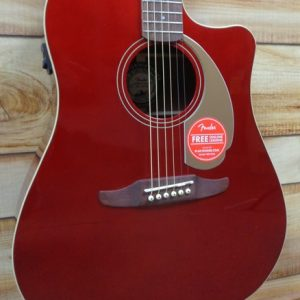 Fender Redondo Player Walnut Fingerboard Acoustic Electric Guitar Candy Apple Red