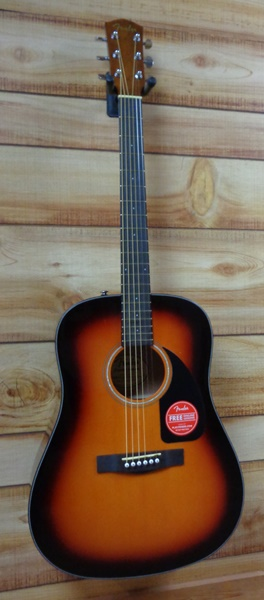 fender cd60 dreadnought acoustic guitar v 3 sunburst w case. Black Bedroom Furniture Sets. Home Design Ideas